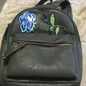 Faux Leather Book Bag